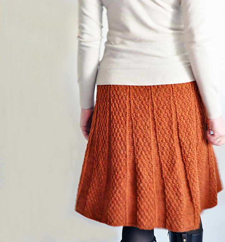 A wearable knitted skirt!
