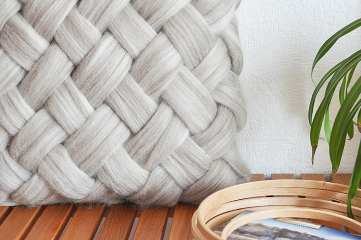 weaving without a loom - cushion2